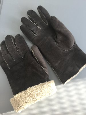 Gloves taupe-oatmeal