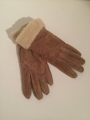 Lederhandschuhe mit Pelzbesatz | Accessorize