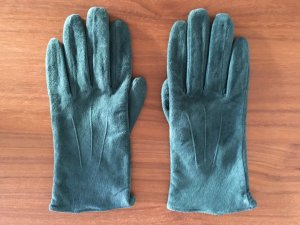 Lederhandschuhe * Petrol * Grün * Handschuhe * Echt Leder * Veloursleder