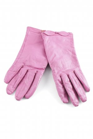 Leather Gloves pink romantic style