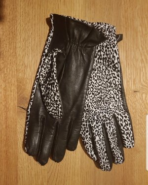 Roeckl Faux Leather Gloves white-black