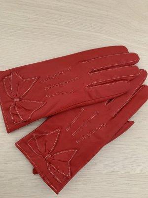 Lederhandschuhe rot gr L  neuwertig