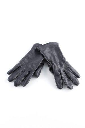 Leren handschoenen zwart casual uitstraling