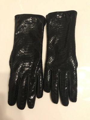 Lederhandschuhe schwarz Damen