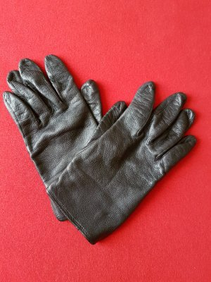 Lederhandschuhe schwarz, Gr. klein S