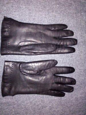 Vintage Leather Gloves black