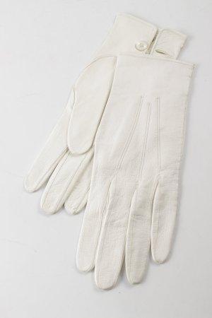 Gants en cuir blanc cassé élégant