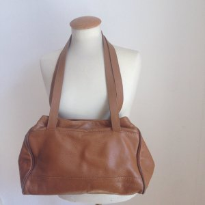 Lederhandtasche in Braun / Beige
