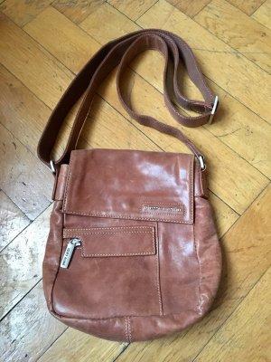 Lederhandtasche in rehbraun von Pierre Cardin