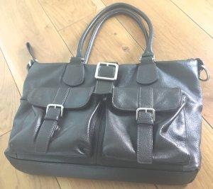 Picard Bolso barrel marrón-negro-color plata Cuero