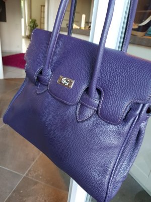 Genuine Leather Sac à main violet foncé cuir