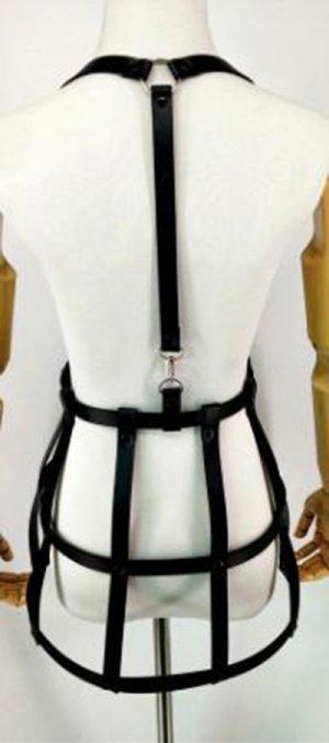 Faux Leather Belt black imitation leather