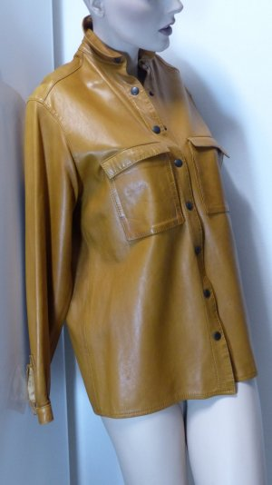 Leather Shirt light brown leather