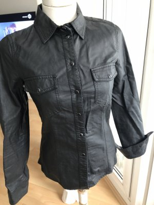 Only Leather Shirt black