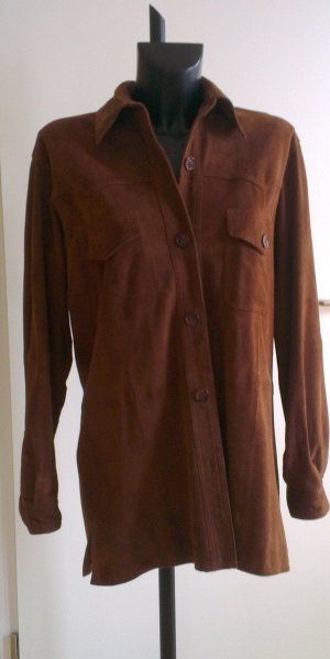 Leather Shirt brown leather