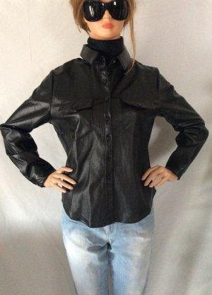 Leather Shirt black imitation leather