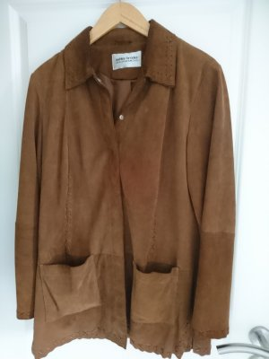 Ashley Brooke Blouse Jacket brown leather