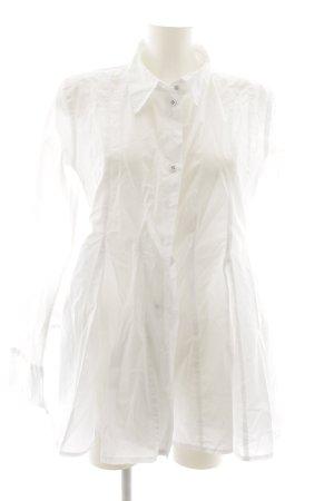 Camisa de cuero blanco puro estilo «business»