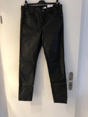 M&S Pantalón de cuero negro