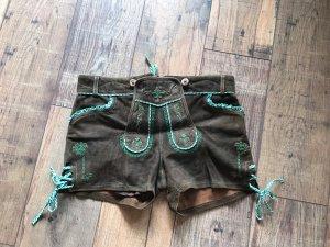 Lekra Pantalon traditionnel en cuir brun foncé
