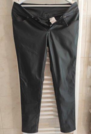Rainbow Leren broek zwart