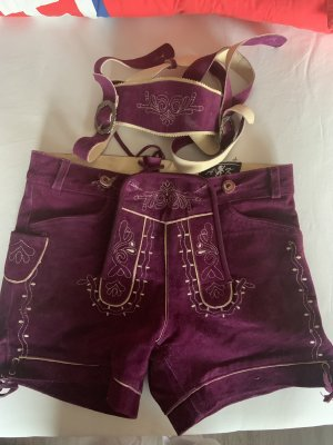 Traditional Leather Trousers purple