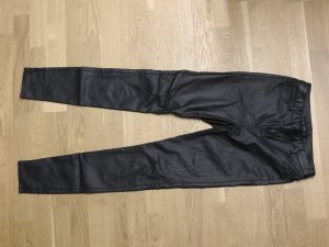 Vila Leather Trousers black imitation leather