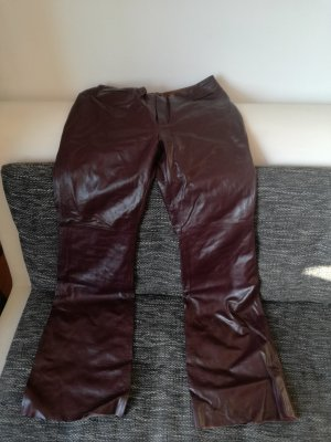 Leather Trousers brown red leather