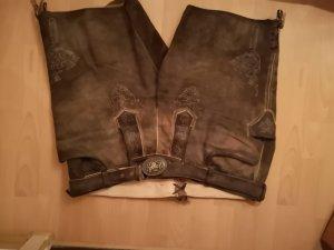 Pantalone talpa-marrone-grigio Pelle