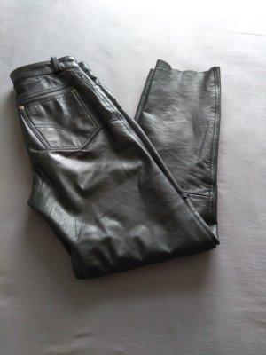 Hoge taille broek zwart Leer