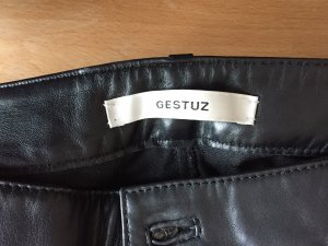 Gestuz Leather Trousers black