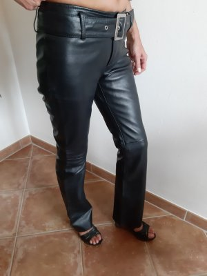 Mia Leather Trousers black