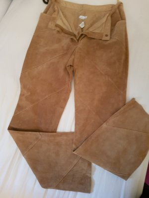 Leather Trousers beige suede