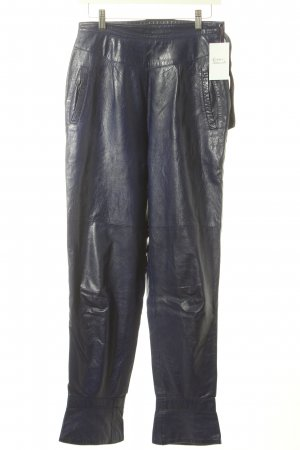 Leather Trousers blue violet leather