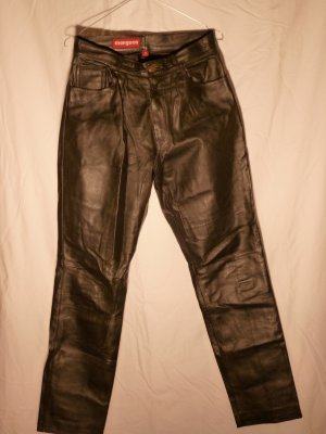 Lederhose, Bootcut, in schwarz