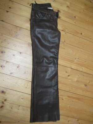 Mauritius Leather Trousers brown red