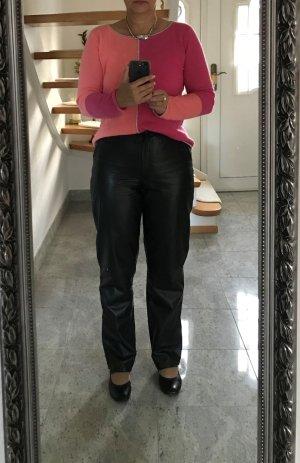 Pantalone in pelle nero Pelle