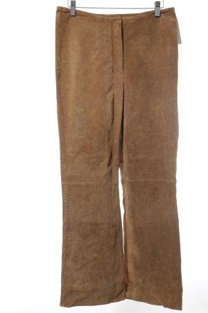 Lederhose camel Street-Fashion-Look