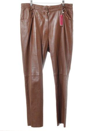 Pantalon en cuir cognac Look de motard