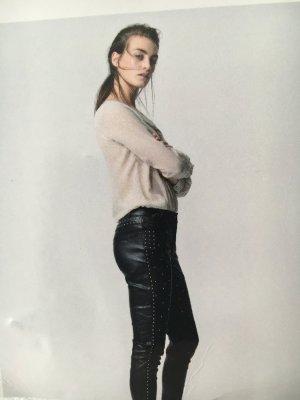 Custommade Leren broek zwart Leer