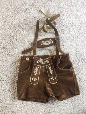 Trachtenkini Pantalon traditionnel en cuir brun