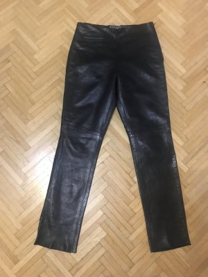 Lederhose Echtleder schwarz echtes Leder 34-36 Pablo Valentino Paris