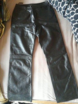 Yuppie Leren broek zwart