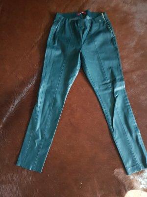 3 OLIVES Pantalón de cuero verde bosque