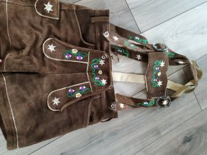 Gaudi Pantalone in pelle marrone chiaro-marrone