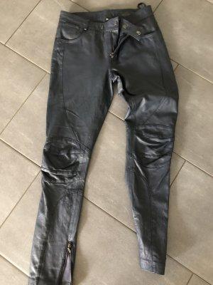 Brandalism Leather Trousers dark blue