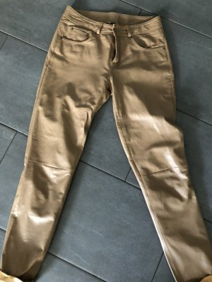 Leather Trousers camel