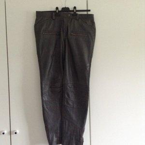 Lederhose grau,Jeansform, superleicht und gut sitzend