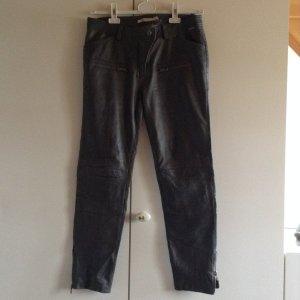 Pepe Jeans Leren broek grijs