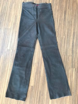 Maddox Leather Trousers dark brown